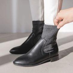 JUSTONE - Elastic-Panel Short Boots