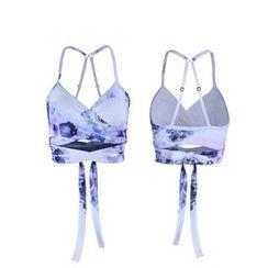 LUSHEY - 印花运动胸罩
