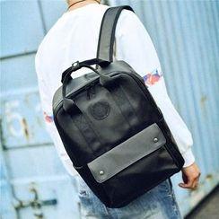 SUNMAN - Plain Nylon Square Backpack