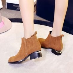 JY Shoes - Cut Out Heel Ankle Boots