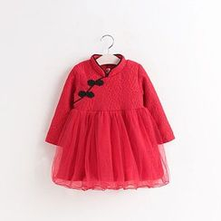 SEE SAW - Fleece-Lined Tulle Lace Dress
