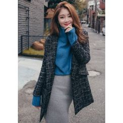 Chlo.D.Manon - Notched-Lapel One-Button Checked Coat
