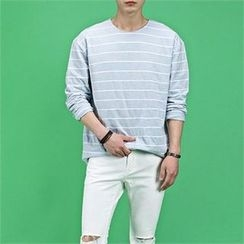 THE COVER - Long-Sleeve Striped T-Shirt