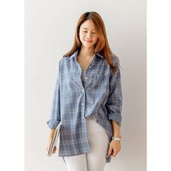 J-ANN - Long Checked Shirt