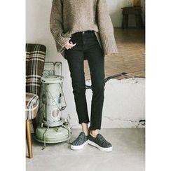 GOROKE - Fray-Hem Skinny Jeans