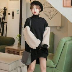 Dute - Fleece Panel Long Pullover