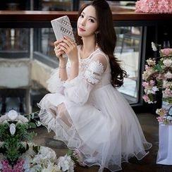 Dabuwawa - Applique Tulle Dress