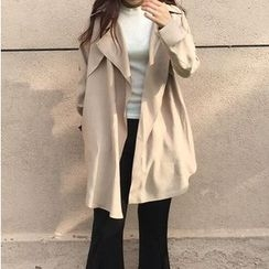 Rollis - Plain Long Trench Coat