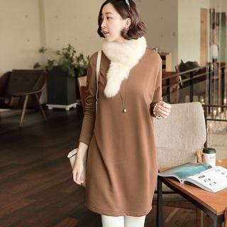 JOAMOM - Bow-Back Brushed Fleece Dress