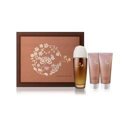 彤人秘 - YUL Red Ginseng First Essence Set : Yul Essence 70ml + Gommage Peeling 70ml + Cleansing Foam 70ml