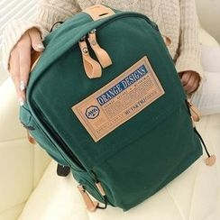 QeQ - Applique Canvas Backpack