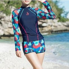 Sirene - Patterned Separate Swimsuit