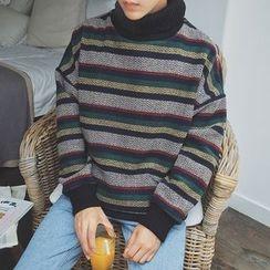JUN.LEE - Striped Sweatshirt