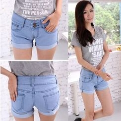 Nassyi - Cuffed Denim Shorts