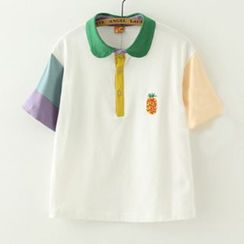 Meimei - Color Block Polo Shirt