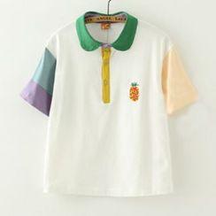 Meimei - 插色马球衫