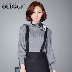 OUBO - 高領厚毛衣