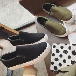 Hipsole - Scallope-Trim Slip-On Sneakers
