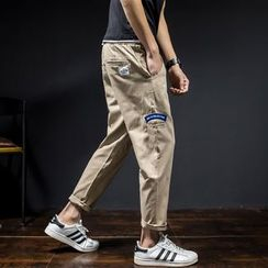Besto - Applique Baggy Pants