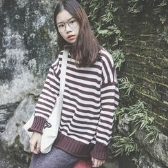 Polaris - Striped Turtleneck Sweater