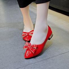 Tania - 蝴蝶结尖头平跟鞋