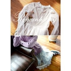 DEEPNY - Long-Sleeve Sheer Lace Dress