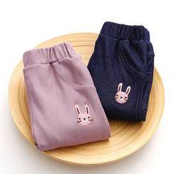 Seashells Kids - Kids Rabbit Embroidered Pants