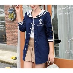 Dollisee - Sailor Collar Long Jacket