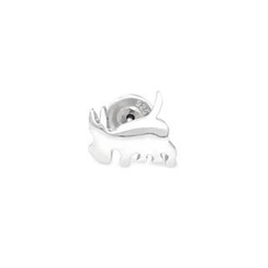 MBLife.com - 925 Sterling Silver Polished Finish Dog Stud Single Earring