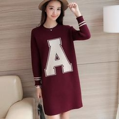 Aigan - Lettering Sweater Dress