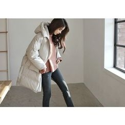 Hello sweety - Raglan-Sleeve Hooded Padded Coat