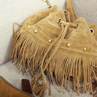 MASoeur - Fringe Drawstring Bucket Bag
