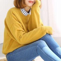 布丁坊 - 純色針織套衫