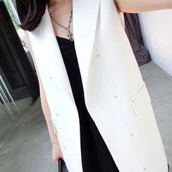 SMA - Chiffon-Panel Long Vest