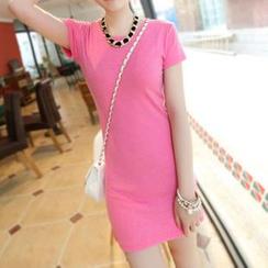Munhome - Short-Sleeve Sheath Dress