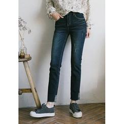 GOROKE - Cuff-Hem Straight-Cut Jeans