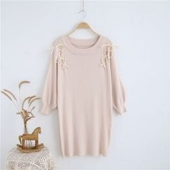 Janseed - Long-Sleeve Knit A-line Dress