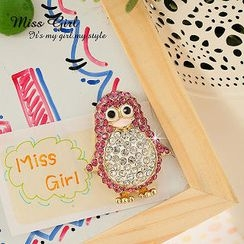 Miss Girl - Rhinestone Penguin Magnet