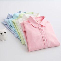 Piko - Plain Long-Sleeve Blouse