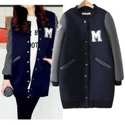 Mori Girls - Applique Long Baseball Jacket