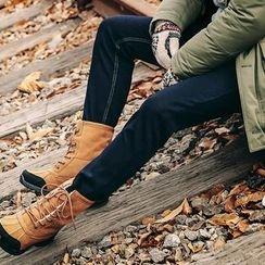 MEOSIDDA - Plain Straight-Cut Jeans