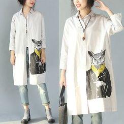 chome - 印花长衬衫