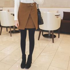 mimi&didi - Buckled Layered Mini Skirt
