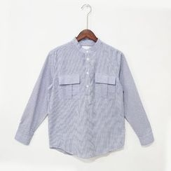 Mr. Cai - Long-Sleeve Pinstripe Shirt
