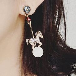 True Glam - Horse Earrings