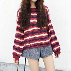 Bloombloom - Striped Overiszed Sweater