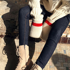 chuu - Stitched Skinny Jeans