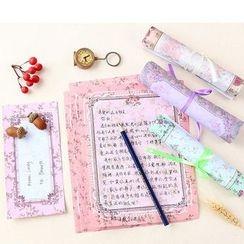 School Time - Floral Print Letter Set