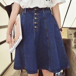 Phyllis - Denim A-Line Skirt