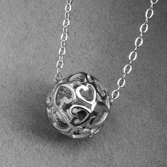 Ringa - 925 Sterling Silver Cutout Heart Bead Pendant